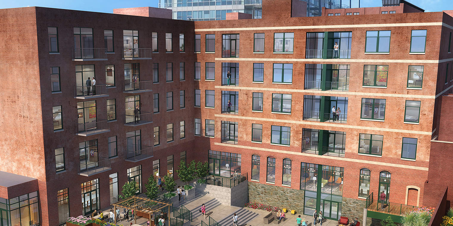 Worthington Yards' 4 historic buildings offer 98 luxury apartments.